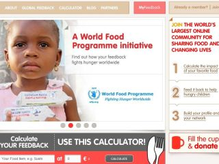 WeFeedBack aims to make use of Facebook, Twitter, Google and LinkedIn to combat world hunger