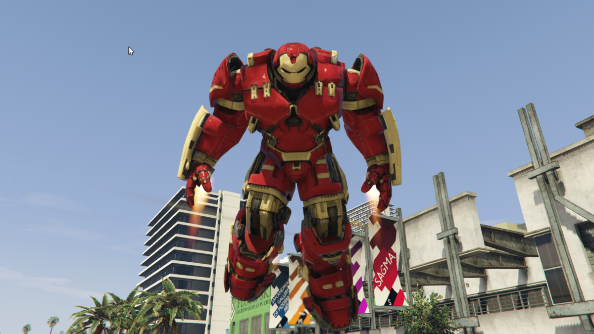 smash up gta 5 with hulkbuster armor