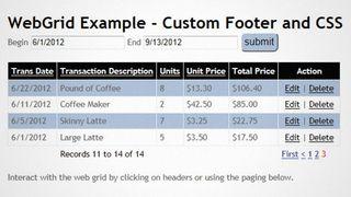 Create custom tables with WebGrid   Creative Bloq