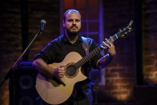 Andy McKee plays a concert at Bourbon Street Music Hall in Sao Paulo Brazil