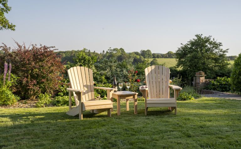 Best Adirondack chairs in a garden with fields