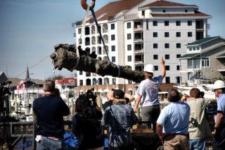 A cannon from Blackbeard's ship