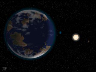 Potentially Habitable Alien Planet HD40307g