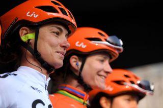 Ashleigh Moolman-Pasio and Marianne Vos (CCC-Liv)