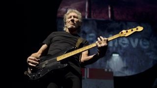 Roger Waters performs on stage on The Wall Tour at Gelredome in Arnhem, Netherlands, 9th April 2011.