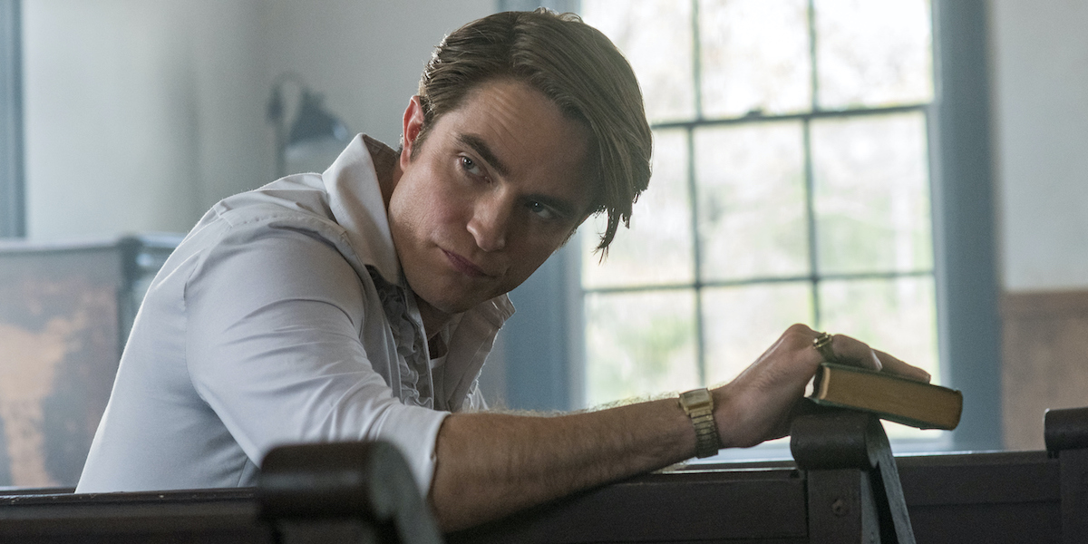 Robert Pattinson as Rev. Preston Teagardin in Devil All The Time
