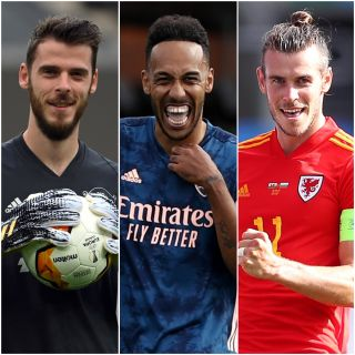David De Gea, Pierre-Emerick Aubameyang and Gareth Bale