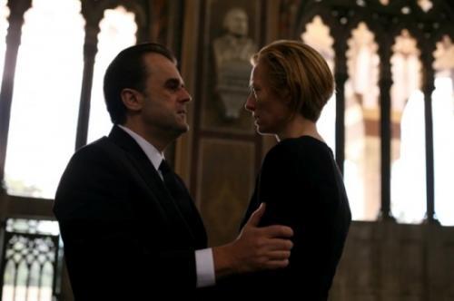 I Am Love - Milanese industrialist Tancredi Recchi (Pippo Delbono) confronts his wife Emma (Tilda Swinton) in Luca Guadagnino's Italian melodrama