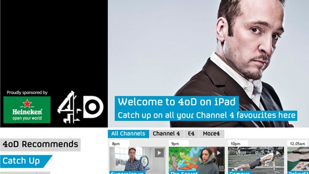 4oD for iOS and Android to get Live TV and offline viewing