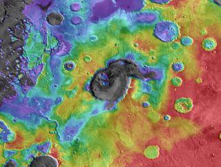 Eden Patera Supervolcano on Mars