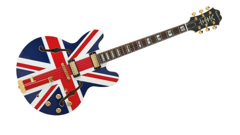 The Union Jack Sheraton Outfit is a guitar made famous by Noel Gallagher - and you'll need a similar swagger to carry it off
