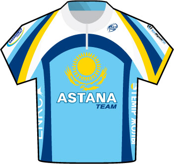 Astana Tour de France 2009 team jersey