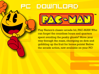 Pac-Man - gets mobbed on the street