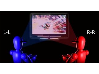 Sony s new 3D PlayStation branded display lets two gamers see two seperate images simultaneously