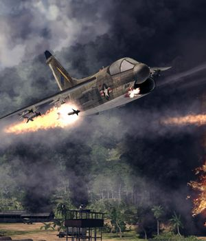 Drop bombs on the Viet Cong in Air Conflicts: Vietnam