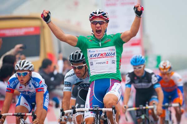Denis Galimzyanov wins, Tour of Beijing 2011, stage five