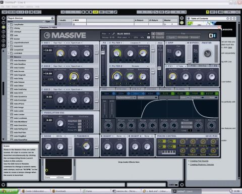 It's easy to coax great synth sounds out of Massive.