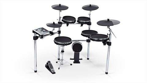 "The kit comes with four cymbals: a 12"" hi-hat, two 14"" crashes and a 16"" three-zone ride"