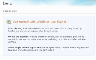 Windows Live Events