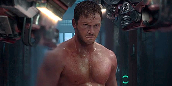 chris pratt shirtless in guardians of the galaxy