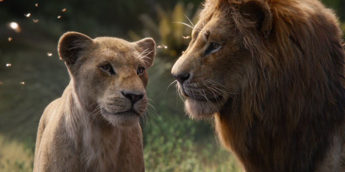 Nala and Simba in The Lion King 2019