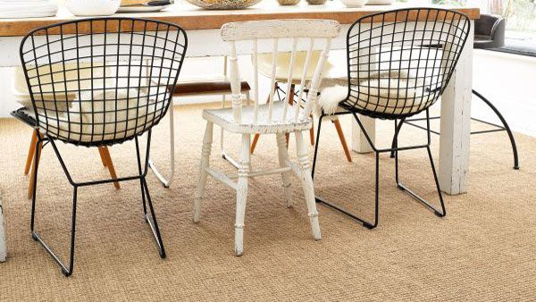 how to clean a carpet: sisal and seagrass carpet