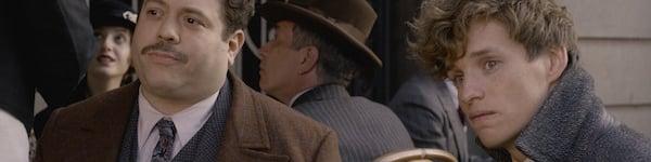 Dan Fogler and Eddie Redmayne in Fantastic Beasts The Crimes of Grindelwald