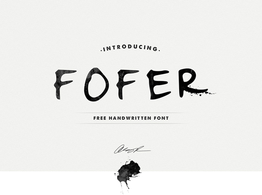 Free handwriting fonts: Fofer