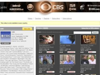 CBS not available in UK