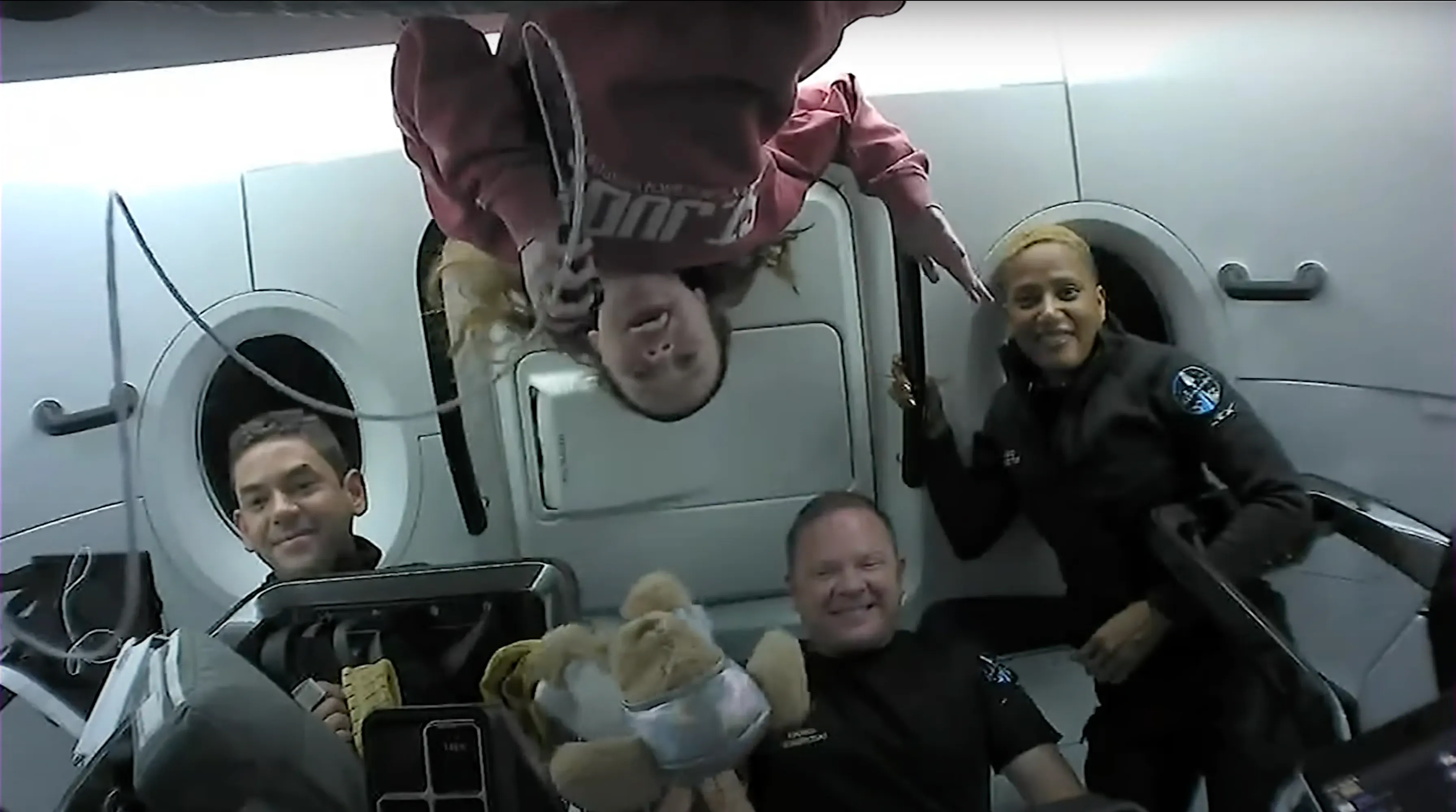 The crew of SpaceX's Inspiration4 mission speak with St. Jude Children's Research Hospital patients from space during their mission.