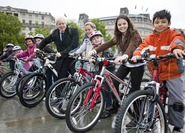 Boris Johnson Mayor of London cycling intiative 2009