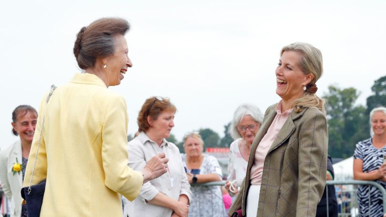 Princess Anne and Sophie Wessex have a laugh at the Westmoreland County Show.