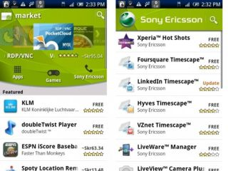 The Sony Ericsson Android Market channel - coming to a Sony Ericsson Android near you