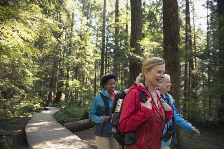 nature bathing: walking with friends could boost health