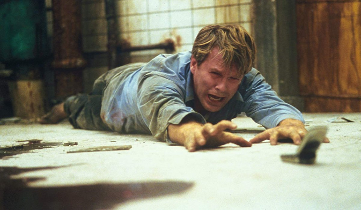 Saw Cary Elwes crawling on the floor in pain