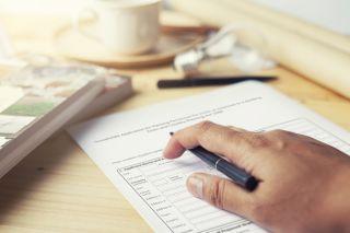 a planning permission application form