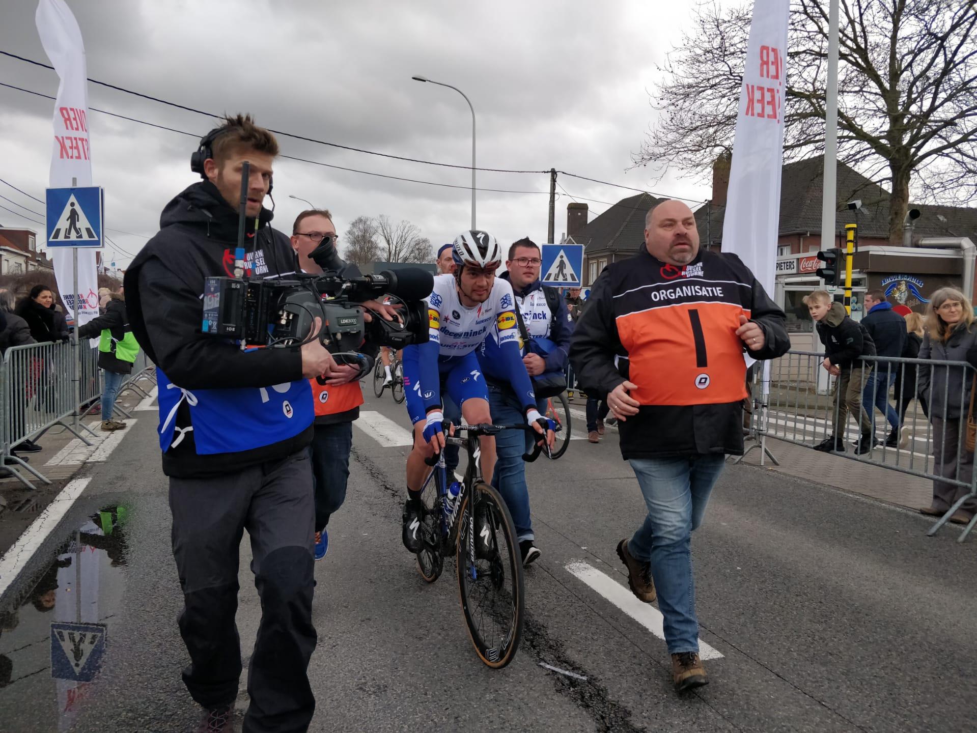 Kasper Asgreen after winning the 2020 Kuurne-Brussel-Kuurne.