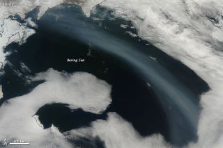 russia wildfires, bering sea images, wildfire smoke images, lake Baikal wildfires