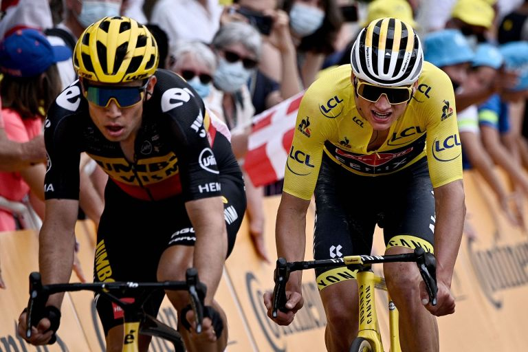 Wout van Aert and Mathieu van der Poel battling for yellow in the first week of the Tour de France 2021