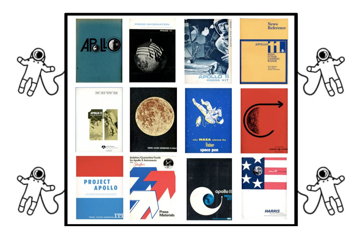 Apollo Press Kits Website Showcases Moon Landing Media Guides