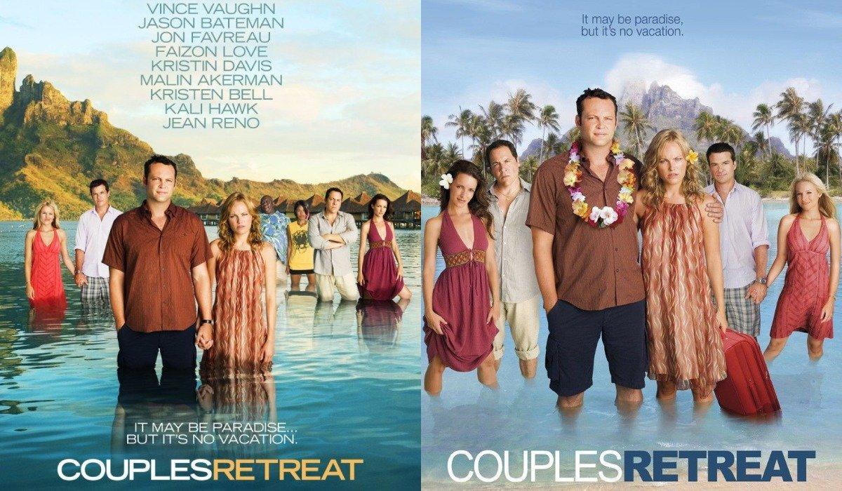 Couples Retreat poster comparison, Universal lawsuit Faizon Love
