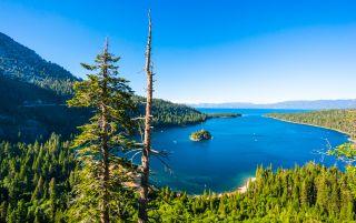 Emerald bay in Lake Tahoe, California.