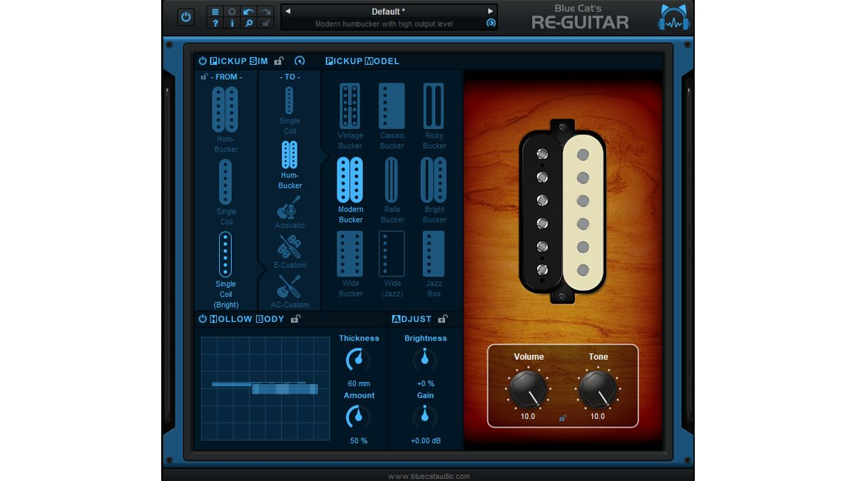 blue cat audio s re guitar plugin can make your guitar sound like any other electric or acoustic. Black Bedroom Furniture Sets. Home Design Ideas
