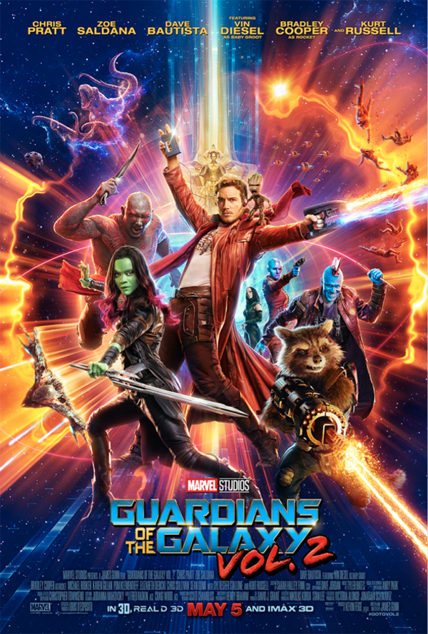 Guardians Of The Galaxy Vol 2 Cast Poster