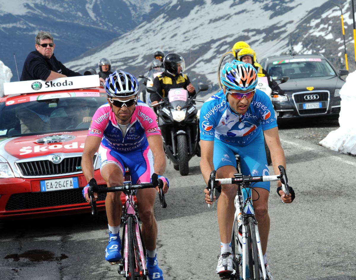 Gilberto Simoni and Johann Tschopp, Giro d'Italia 2010, stage 20