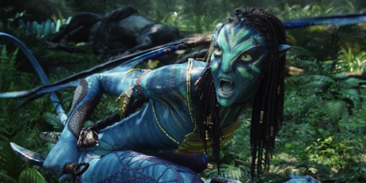 Neytiri growling in Avatar
