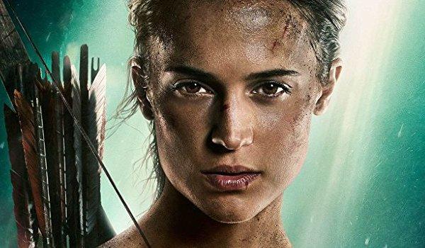 Tomb Raider Alicia Vikander Lara Croft armed with arrows