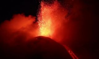 Italy's Mount Etna erupted on Sunday, June 15, 2014, in a fiery display.