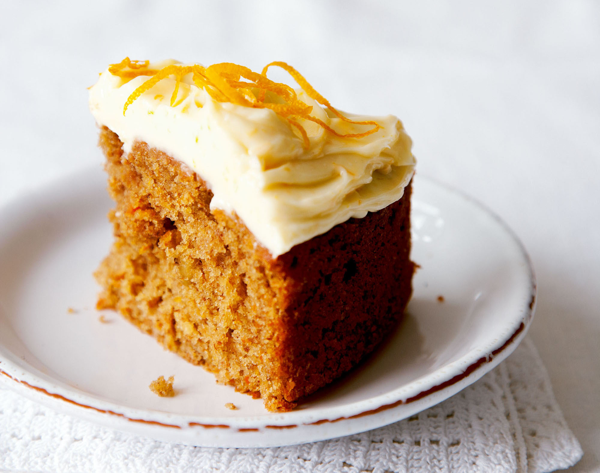 Carrot Cake With Orange Cream Cheese Frosting Dessert