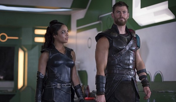 Thor: Ragnarok Tessa Thompson Chris Hemsworth Valkyrie and Thor march forth